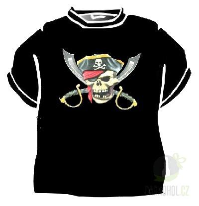 Hlavní kategorie - Triko Pirát lebka meče černá