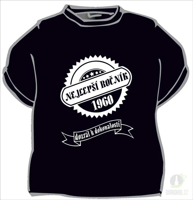 Hlavní kategorie - Triko -Nejlepší ročník 1960 černá