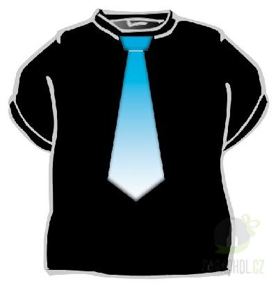 Hlavní kategorie - Triko Kravata modrá černá-poslední kus!