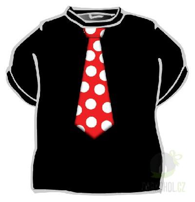 Hlavní kategorie - Triko Kravata červená černá-poslední kus!