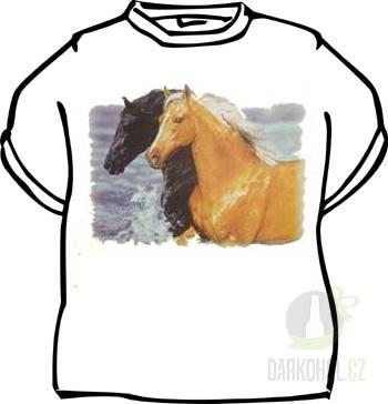 Hlavní kategorie - Triko -Koně bílá