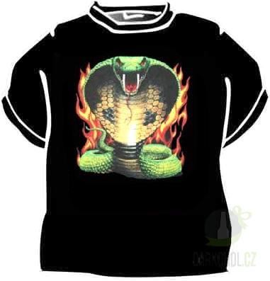Hlavní kategorie - Triko Kobra v ohni černá
