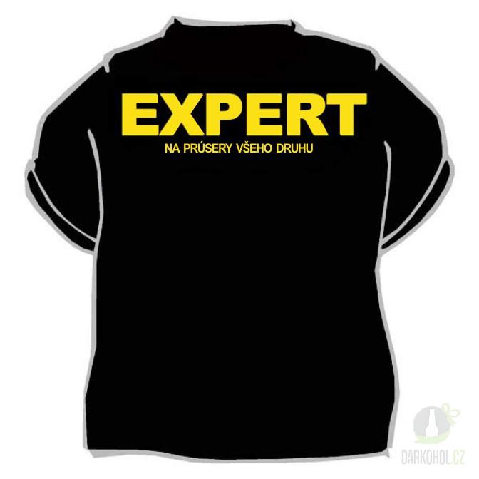 Hlavní kategorie - Triko Expert černá