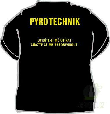 Hlavní kategorie - Triko Pyrotechnik černá