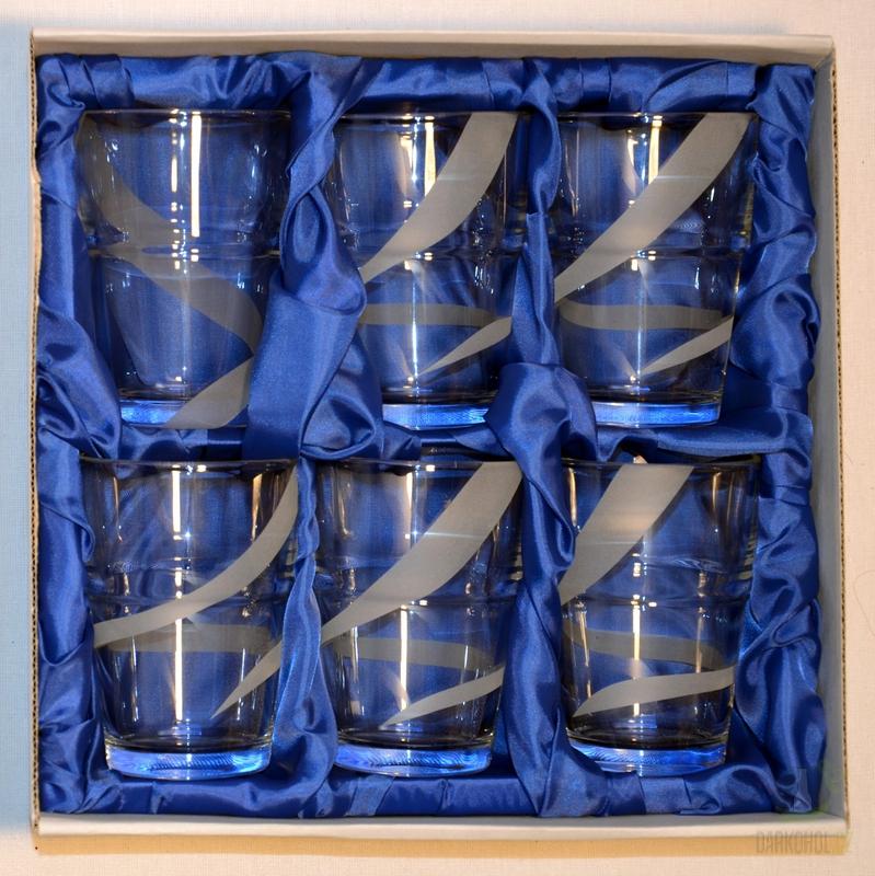 Hlavní kategorie - Souprava pískovaná šest sklenic pruh dole 0,1l-Poslední kus!