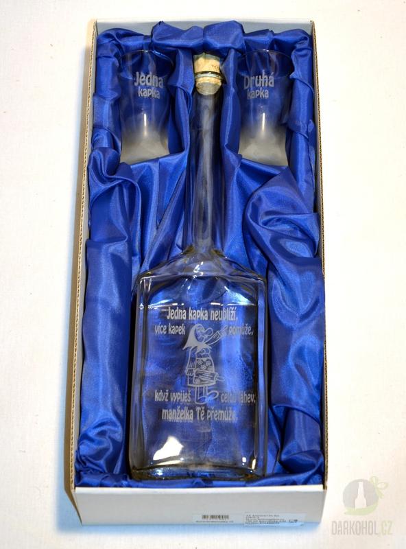 Hlavní kategorie - Souprava pískovaná láhev Aurora  a dva panáky Jedna kapka