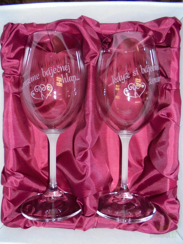 """Hlavní kategorie - Svatební pískované sklenice na víno  -"""" Když si báječnou ženskou..."""" 0,3l"""