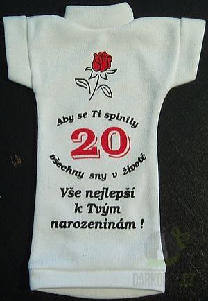 Hlavní kategorie - Tričko na lahev- Výročí kytka 20