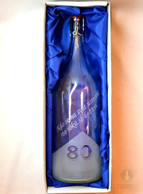 Hlavní kategorie - Lahev pískovaná Renana 2l  80 let
