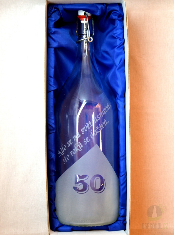Hlavní kategorie - Lahev pískovaná Renana 2l  50 let