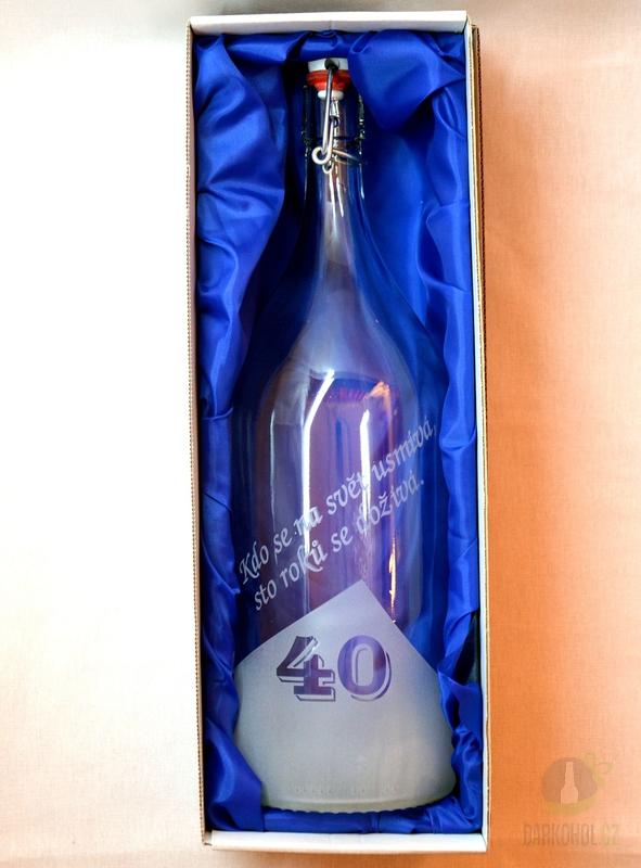 Hlavní kategorie - Lahev pískovaná Renana 2l 40 let