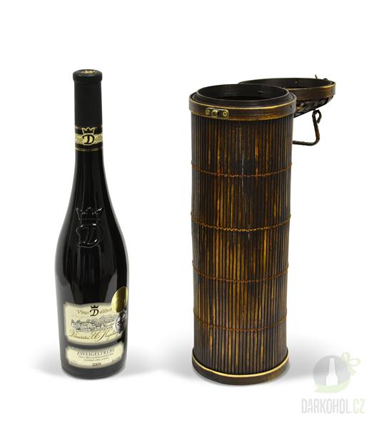 Hlavní kategorie - Bambusová krabička na 1 lahev kulatá