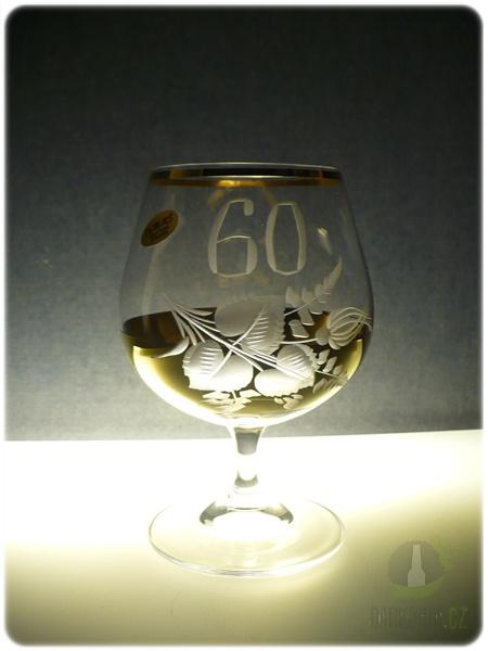 Hlavní kategorie - Číše výroční ručně rytá -60let zlatá