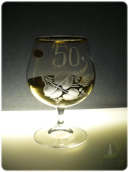 Hlavní kategorie - Číše výroční ručně rytá -50let zlatá