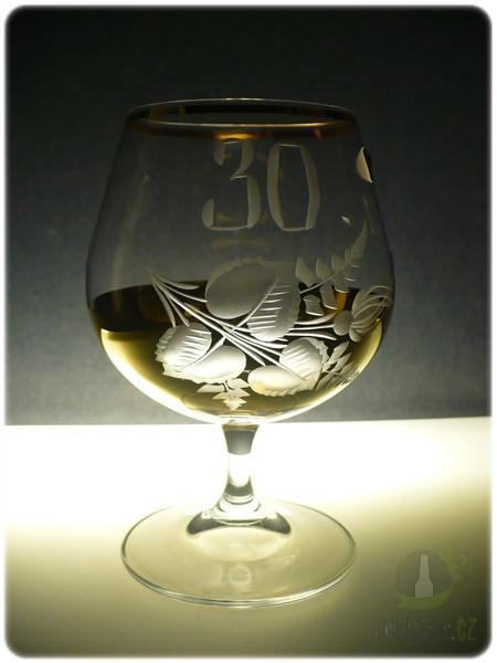 Hlavní kategorie - Číše výroční Ručně rytá -30let zlatá