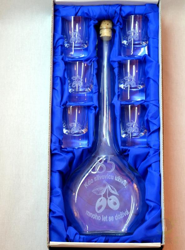 Hlavní kategorie - Velká sada láhev pískovaná Contesa 0,5l 85let