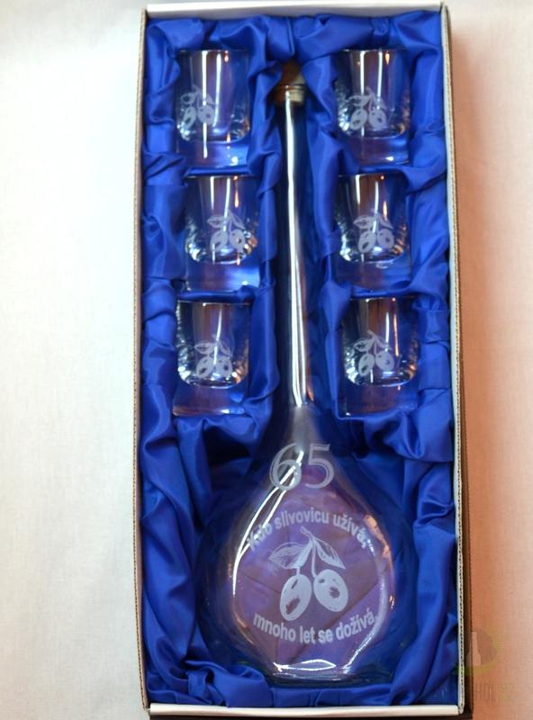 Hlavní kategorie - Velká sada láhev pískovaná Contesa 0,5l 65let