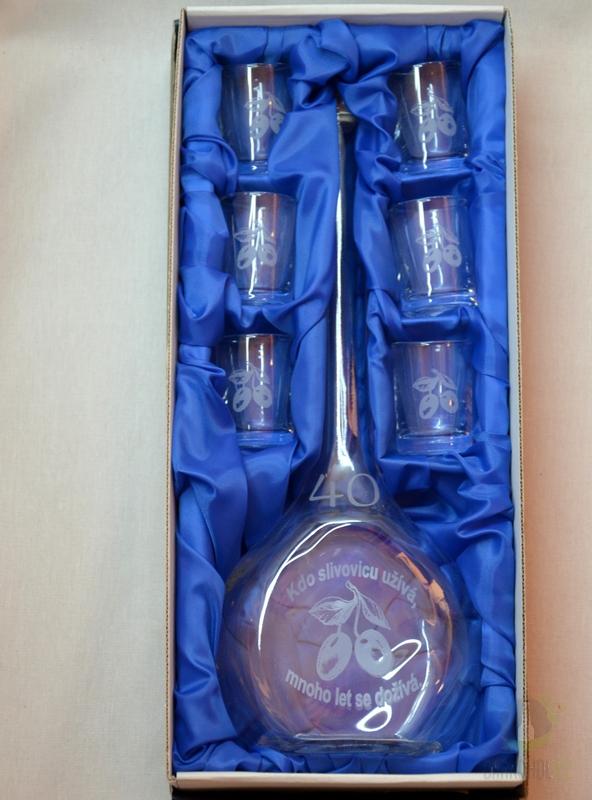 Hlavní kategorie - Velká sada láhev pískovaná Contesa 0,5l 40let