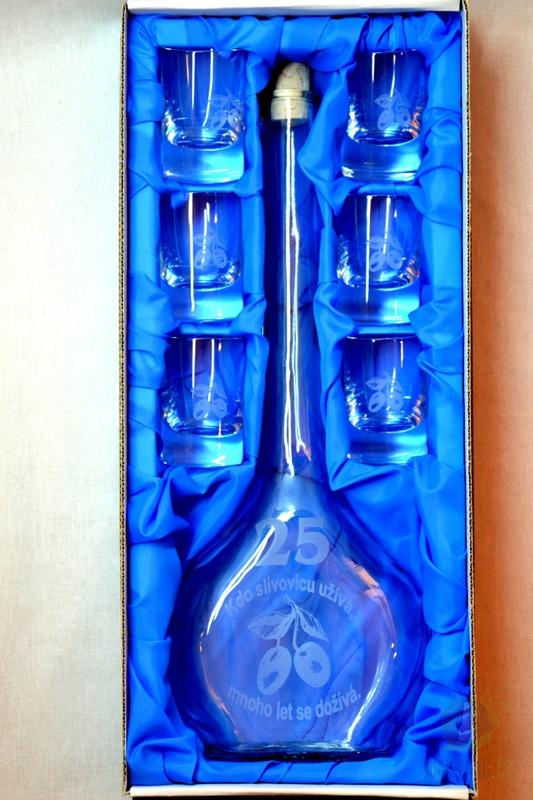 Hlavní kategorie - Velká sada láhev pískovaná Contesa 0,5l 25let