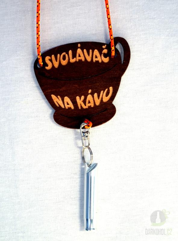 Hlavní kategorie - Svolávač na krk dřevo s píšťalkou - na kávu