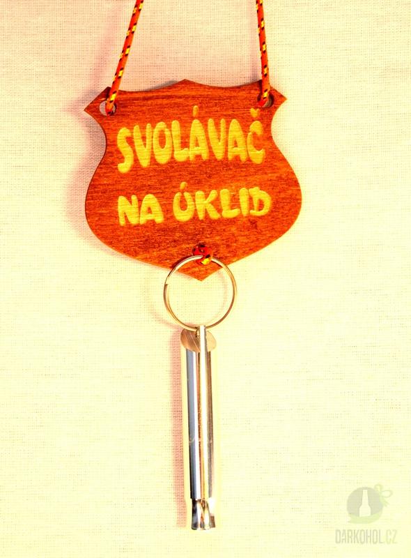 Hlavní kategorie - Svolávač na krk dřevo s píšťalkou- na úklid