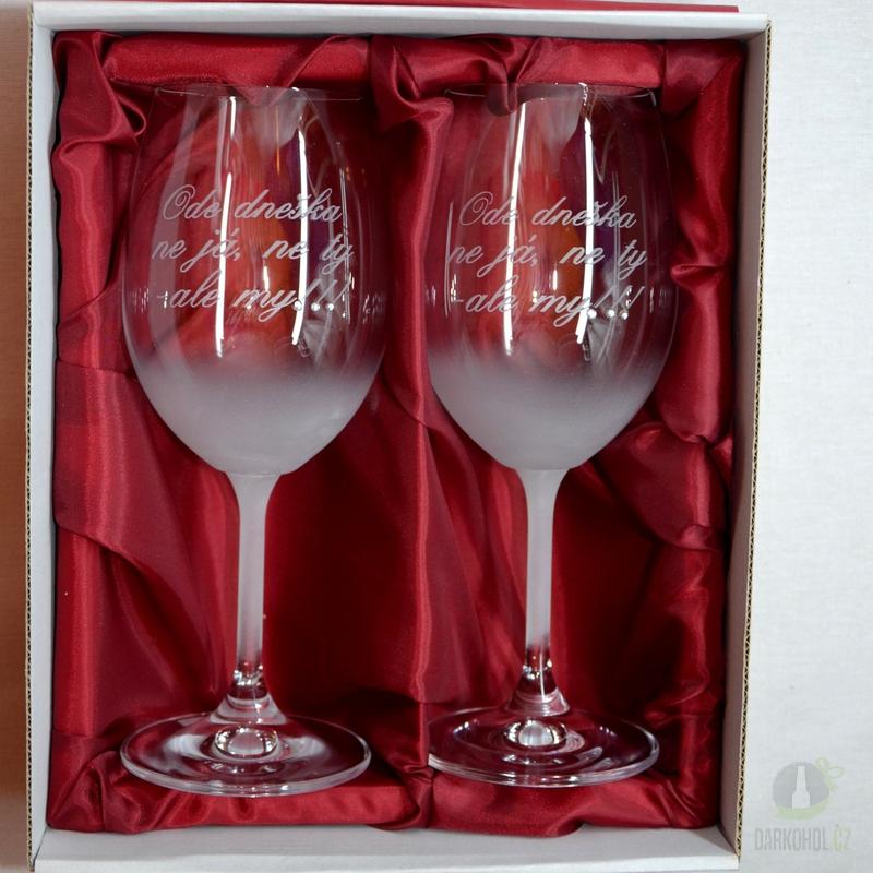 """Hlavní kategorie - Svatební pískované sklenice na víno - """" Ode dneška... """" 0,3l"""