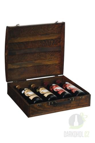 Hlavní kategorie - Dřevěný box na 4 lahve