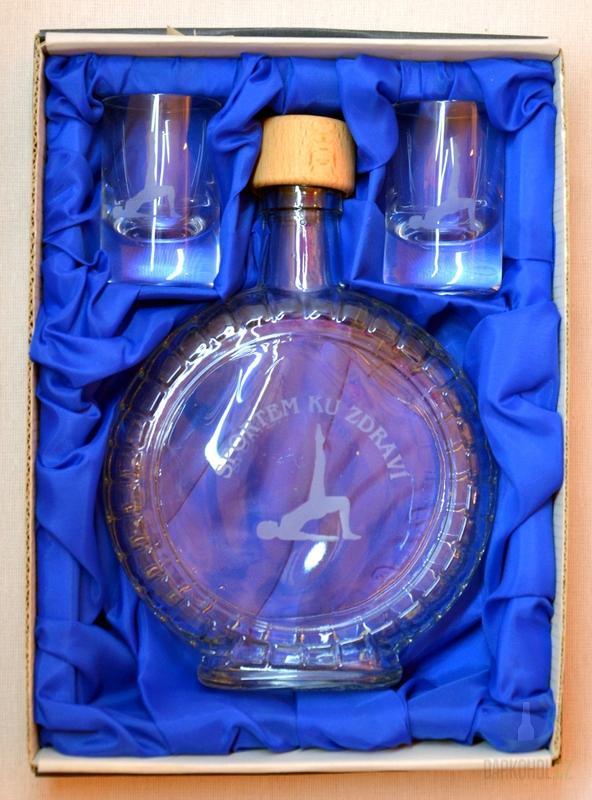 Hlavní kategorie - Souprava pískovaná láhev budík + 2 panáky Sportem ku zdraví zdraví