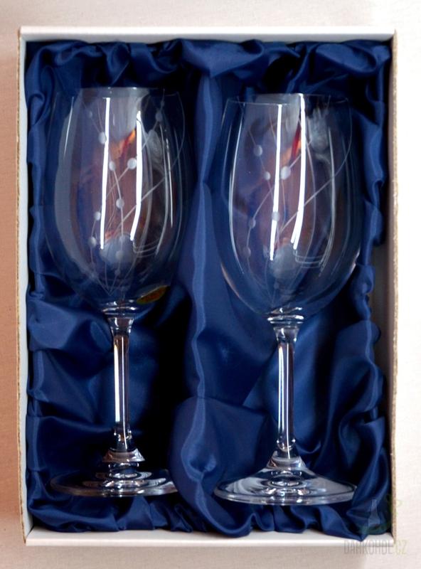 Hlavní kategorie - Ručně rytá sada sklenic na víno Přátelka -korále 350ml
