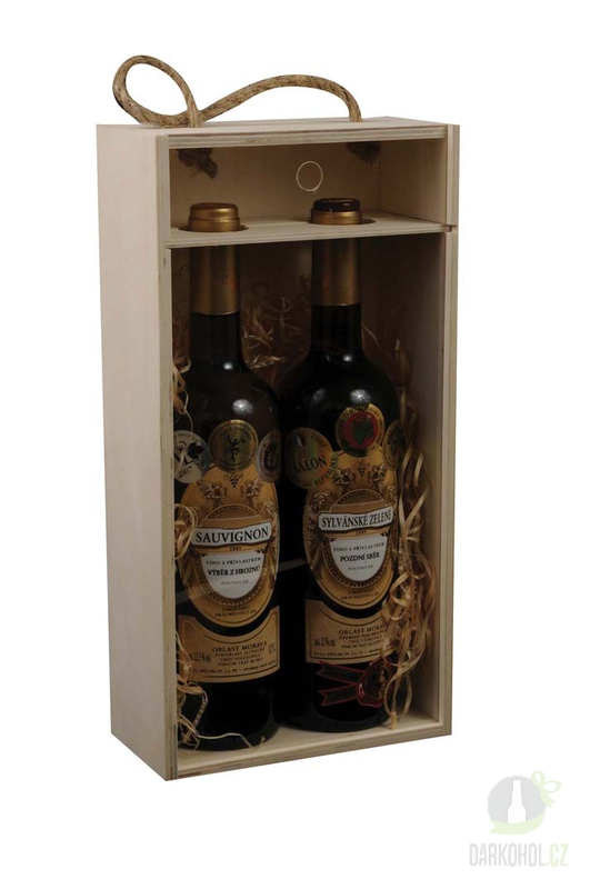 Hlavní kategorie - Dřevěný box na 2 lahve prosklený
