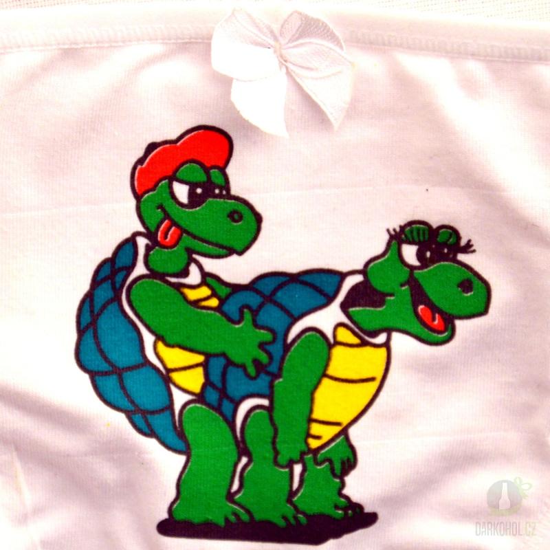 Hlavní kategorie - Kalhotky tanga bílé - Želvy