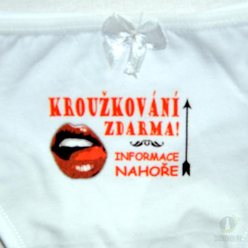 Hlavní kategorie - Kalhotky tanga bílé-Kroužkování zdarma informace nahoře-poslední kus!