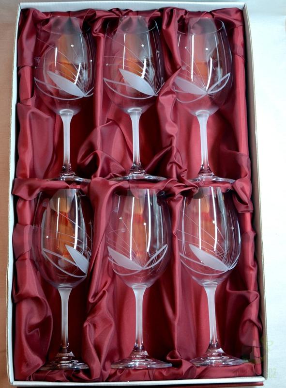Hlavní kategorie - Souprava 6ks Sklenice pískované Gala vino 350ml