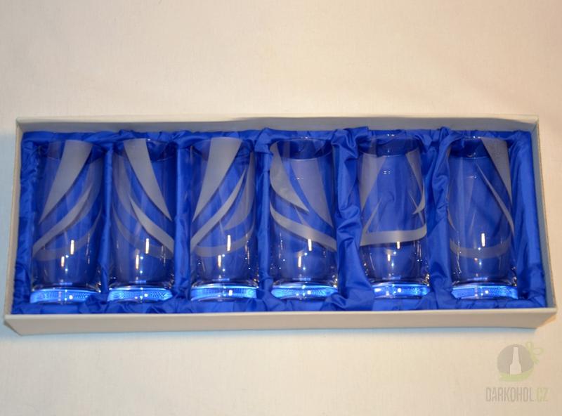 Hlavní kategorie - Souprava šesti pískovaných sklenic Irena Pruhy 0,25l