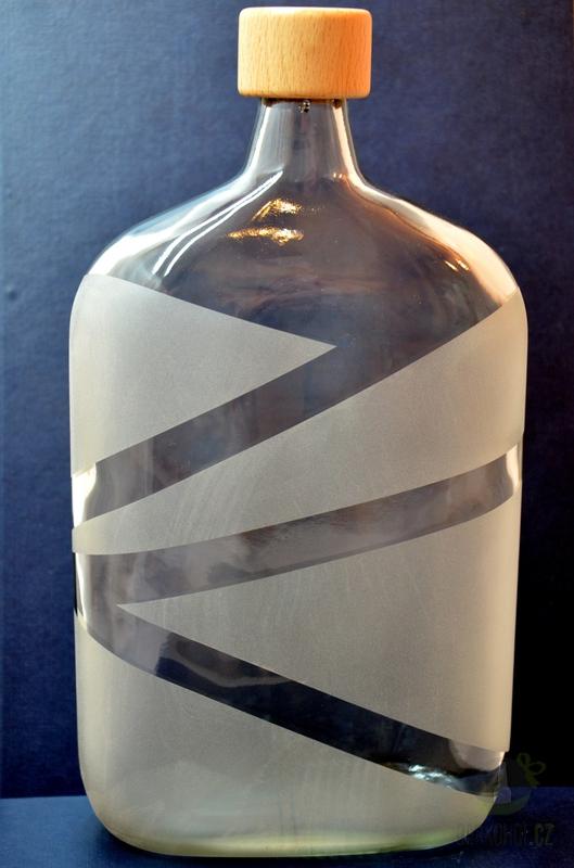Hlavní kategorie - Lahev pískovaná  Butylka 1l Pískování