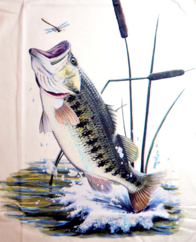 Hlavní kategorie - Triko Ryba ve skoku bílá