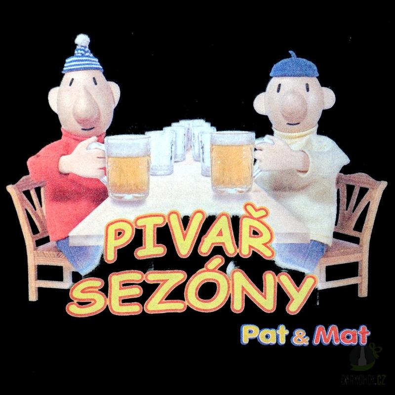 Hlavní kategorie - Triko Pivař sezóny-Pat a Mat. černá