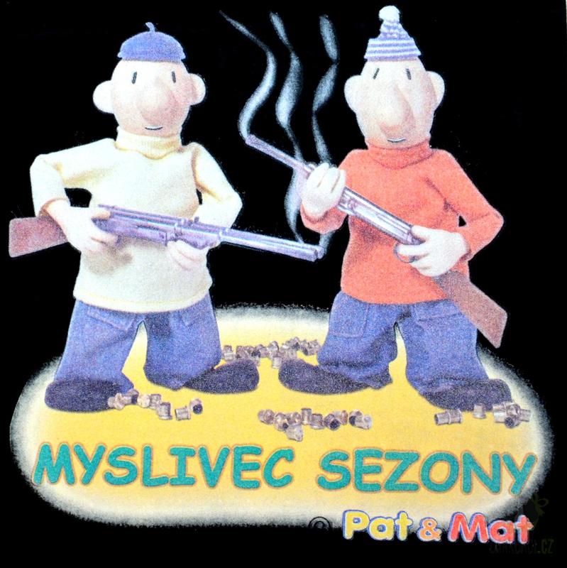 Hlavní kategorie - Triko Myslivec sezóny Pat a Mat. černá