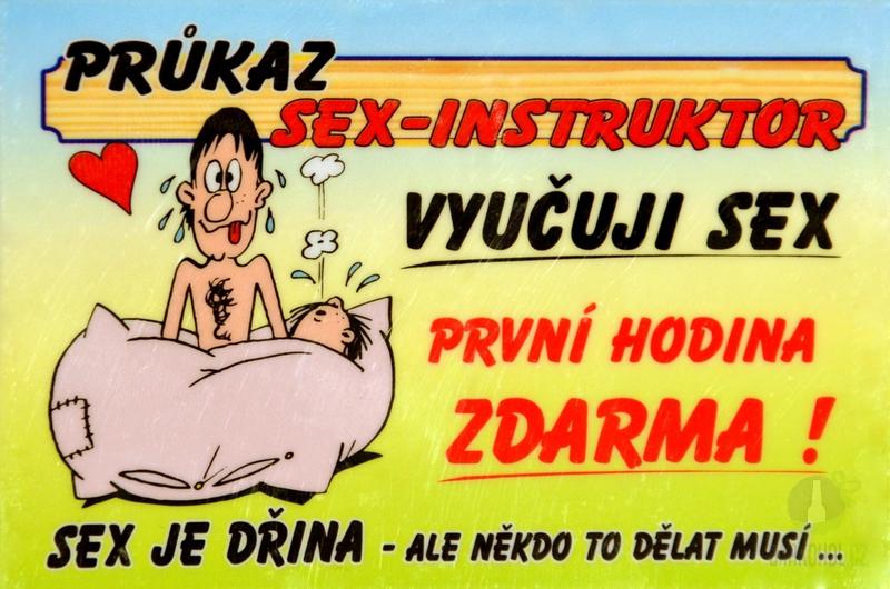 Hlavní kategorie - Cedulka Sex-instruktor