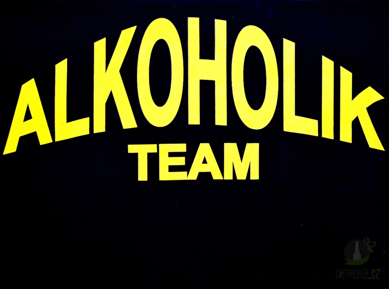 Hlavní kategorie - Triko Alkoholik team černá