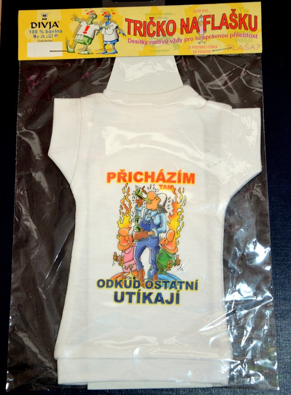 Hlavní kategorie - Tričko na láhev- Hasič
