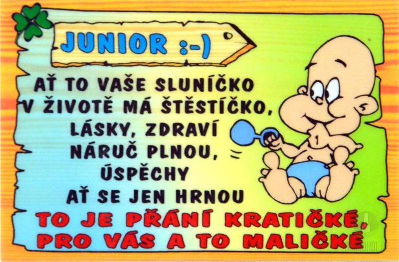 Hlavní kategorie - Cedulka Junior :)