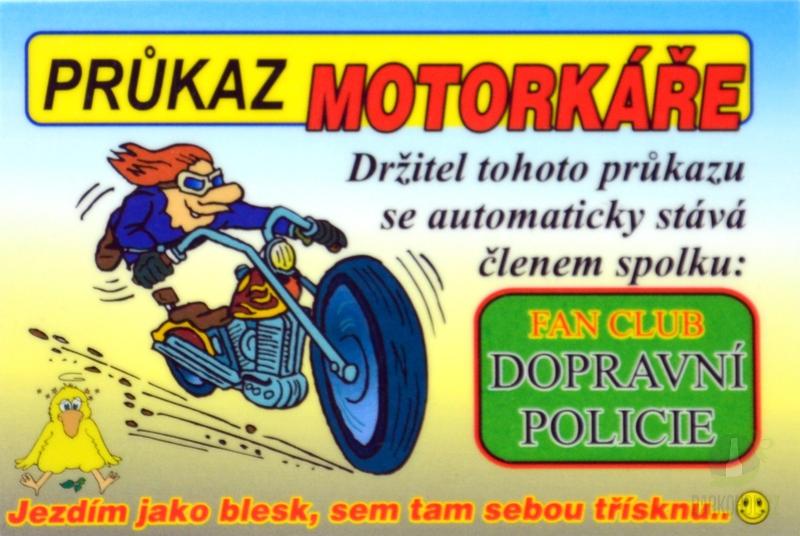 Hlavní kategorie - Cedulka Průkaz motorkáře 9a00174cdd