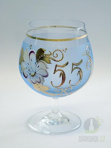 Hlavní kategorie - Číše výroční ručně malovaná -55let modrá