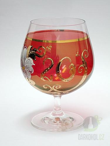 Hlavní kategorie - Číše výroční ručně malovaná -20let červená-poslední kus!
