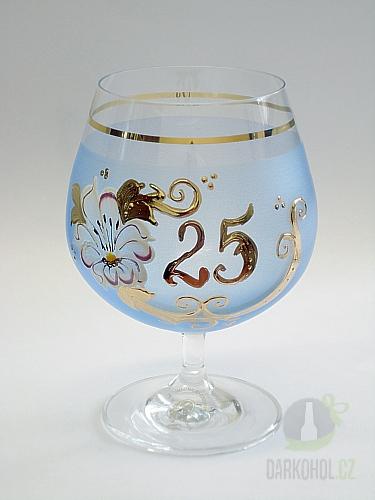 Hlavní kategorie - Číše výroční ručně malovaná -25let modrá