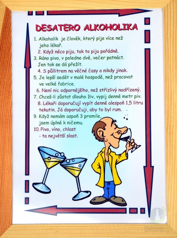 Hlavní kategorie - Rámeček střední-Desatero alkoholika