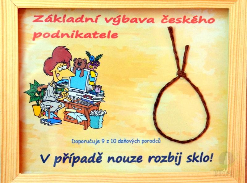 Hlavní kategorie - Rámeček malý-Základní výbava českého podnikatele