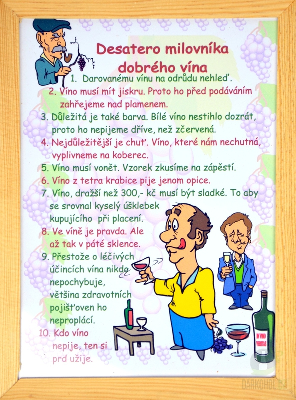 Hlavní kategorie - Rámeček střední-Desatero milovníka dobrého vína 9ce1291d46