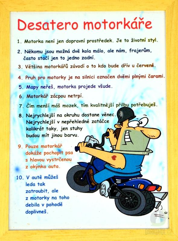 Hlavní kategorie - Rámeček střední-Desatero motorkáře c4d536c6cc